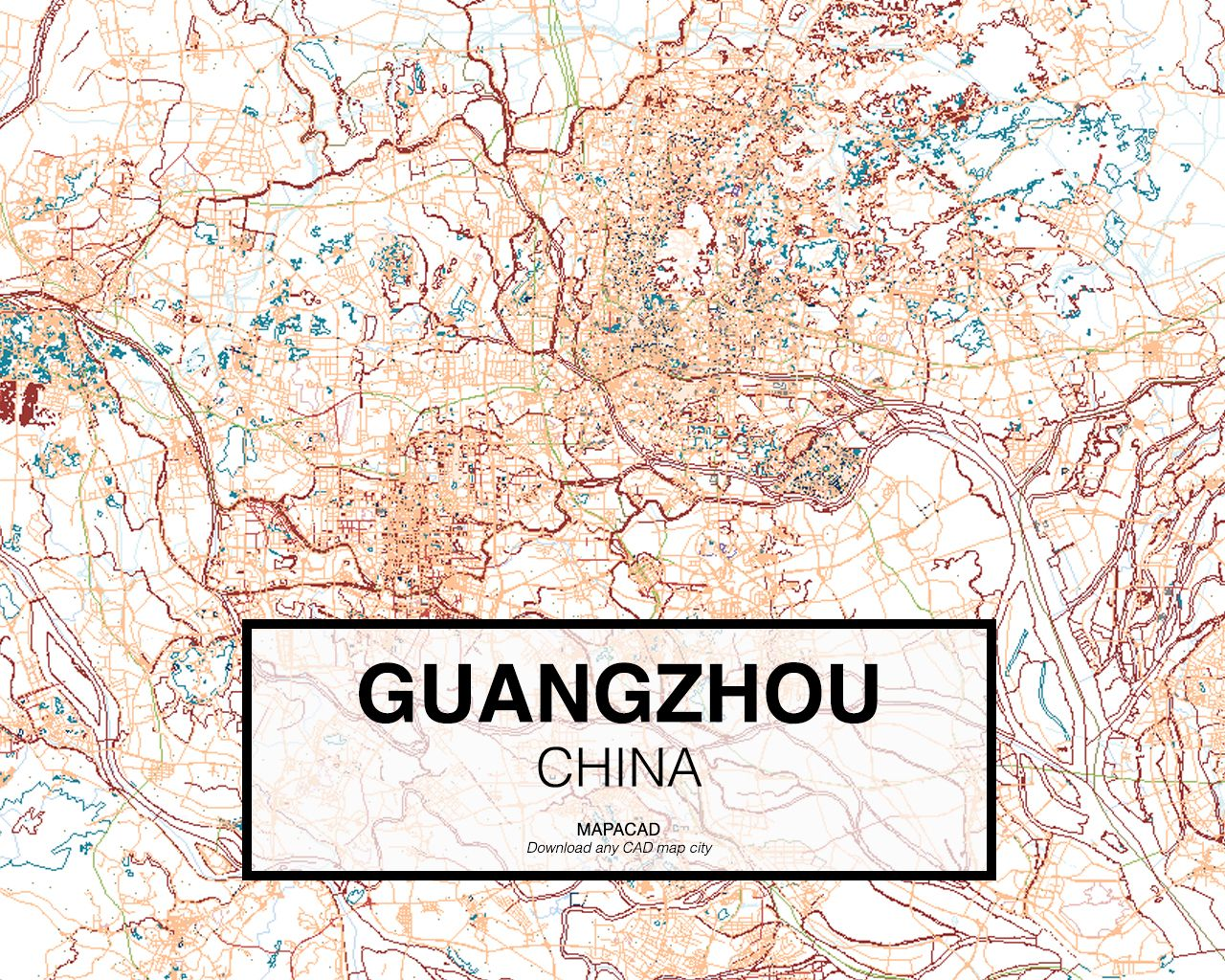 Guangzhou - China. Download CAD Map city in dwg ready to use in ...