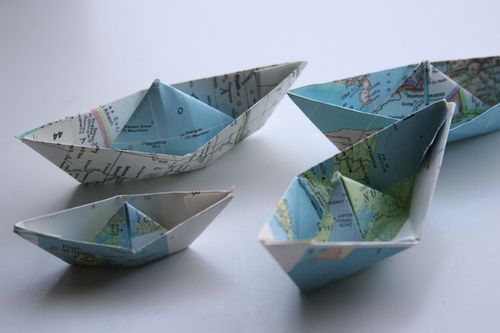 little folded boats origami pinterest boating child and tutorials