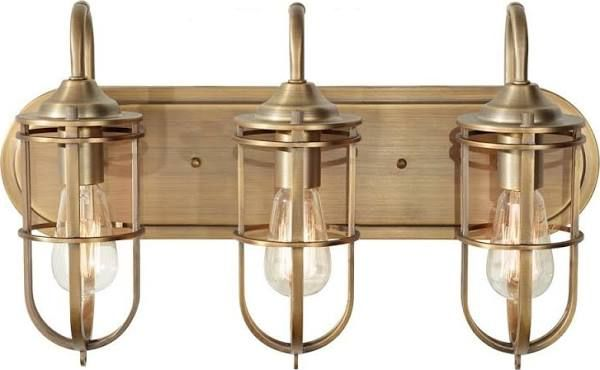 Brushed Gold Bathroom Light Fixture Brass Vanity Light Bathroom