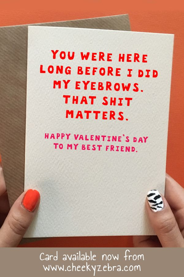 eyebrows  funny valentines cards for friends happy