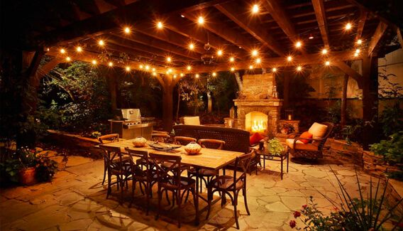 Captivating Outside Patio Lights