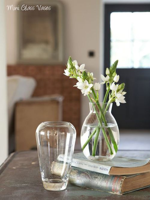 Six small vases from Nordic House...perfect for simple flower arranging in your home | Ideas para fiestas en casa | Vase Simple flowers y Glass vase & Six small vases from Nordic House...perfect for simple flower ...
