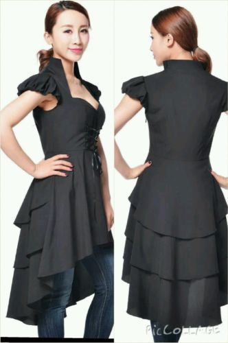 Black #gothic victorian steampunk vintage #gypsy vampire #fantasy top dress no18,  View more on the LINK: 	http://www.zeppy.io/product/gb/2/252157817580/