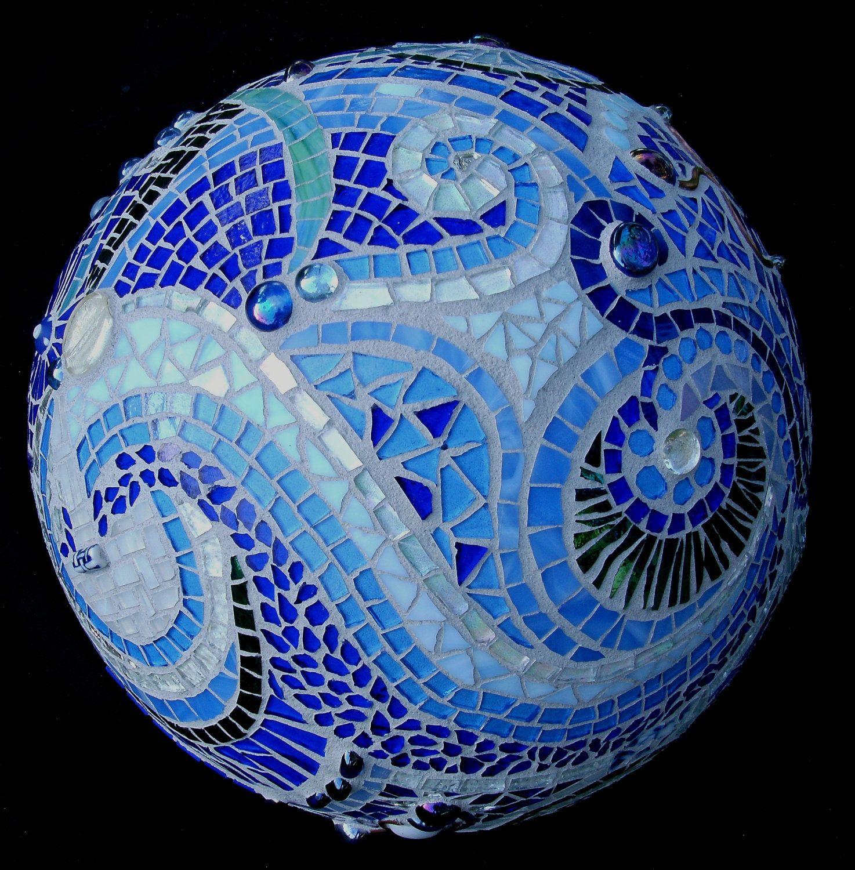 Mosaic Orb Blue Garden Sphere Glass Terracotta Gazing Ball ... - photo#46