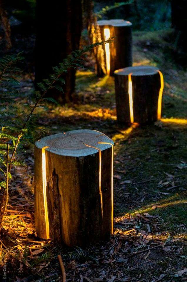 Now this is cool Farm house ideas Pinterest Iluminación - iluminacion jardin