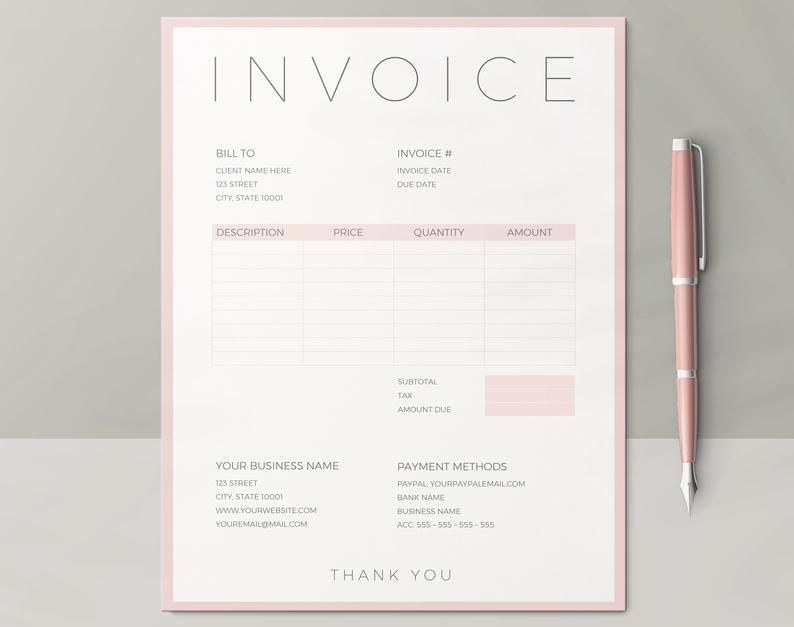 Invoice Template Printable Invoice Order Form Photography Invoice Template Business Planner Photography Template Printable In 2021 Photography Invoice Template Photography Invoice Printable Invoice