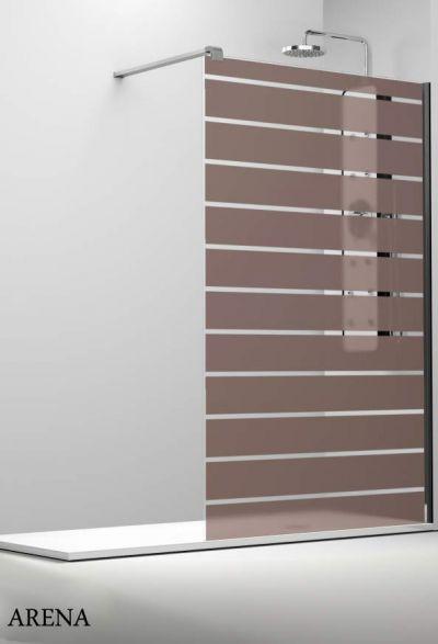 Profiltek profiltek dekordusche belus duschwand 8 mm bold - Schwenkbare duschwand ...
