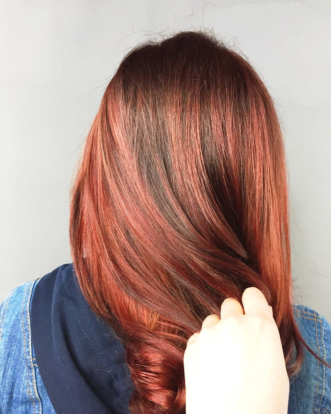 Copper Auburny With Shadow Root Color Correction At Talking Headz Salon Philadelphia Pa Usa Hair Looks Shadow Root Color Hair