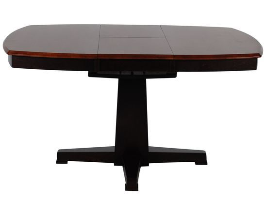 42 57 Butterfly Leaf Pedestal Contemporary Dining Table In
