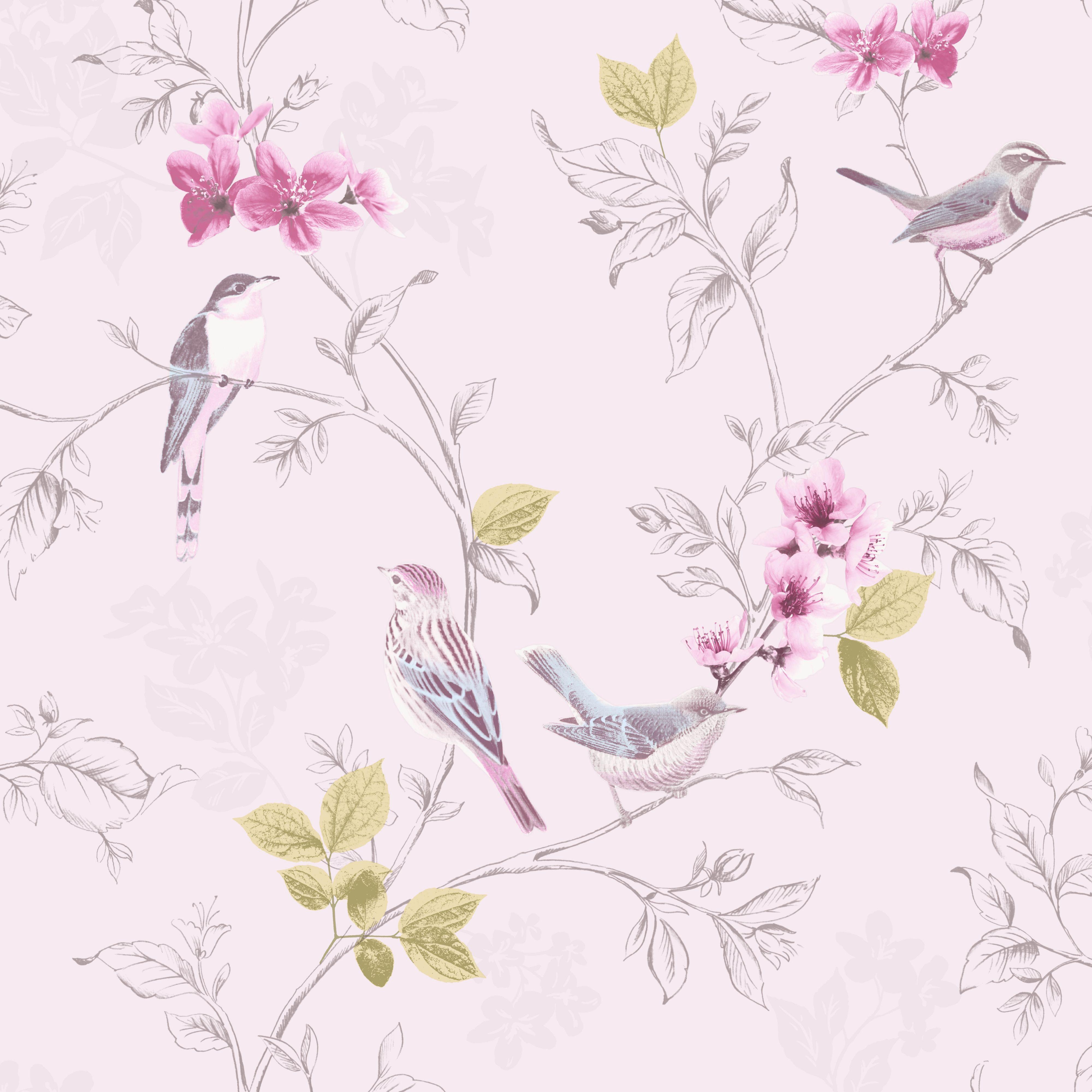 Wallpaper With Birds Pip Early Bird Yellow Wallpaper  Interior Design  Pinterest