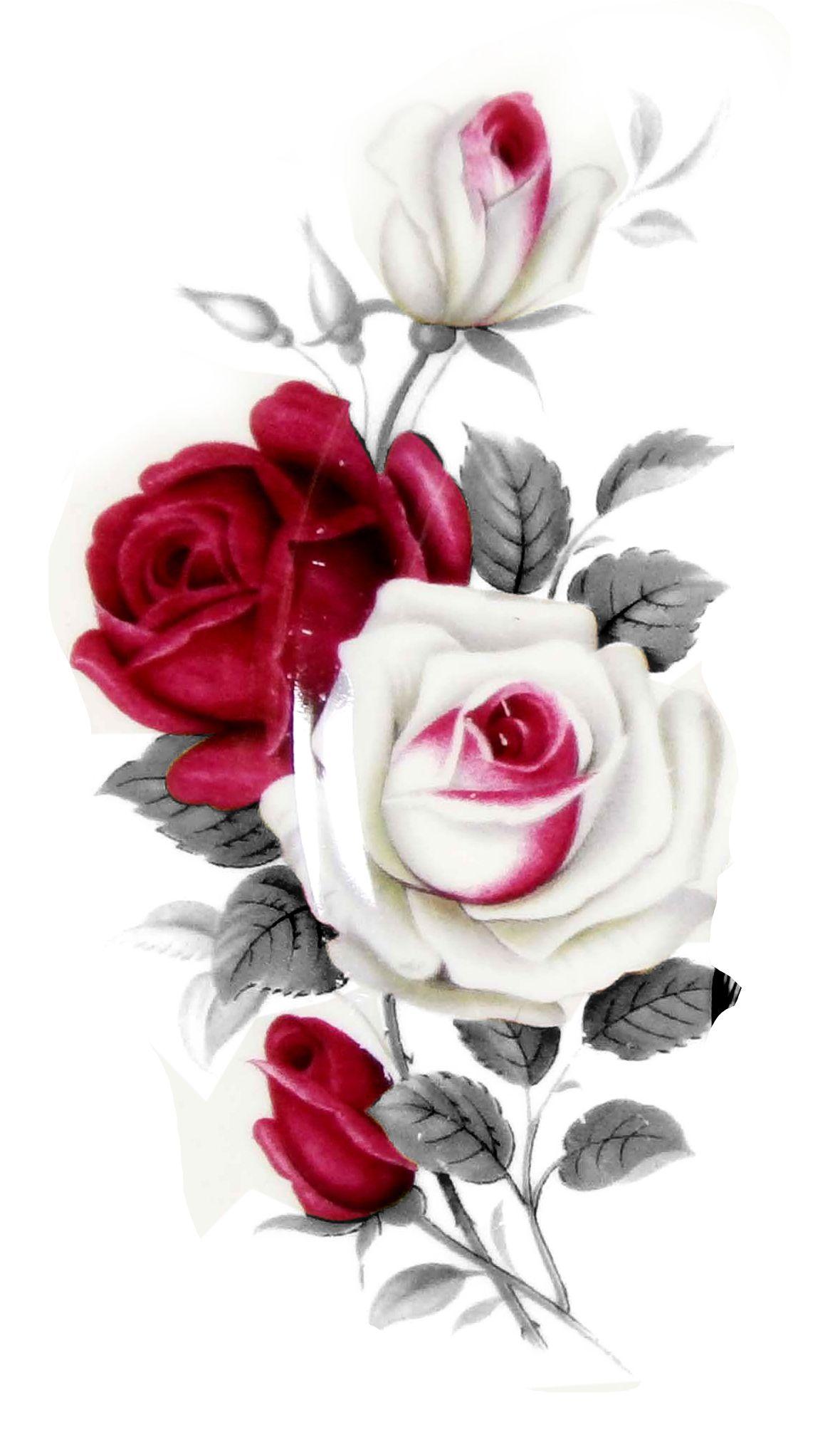 Vintage Painted Roses - One Of My Favorites.