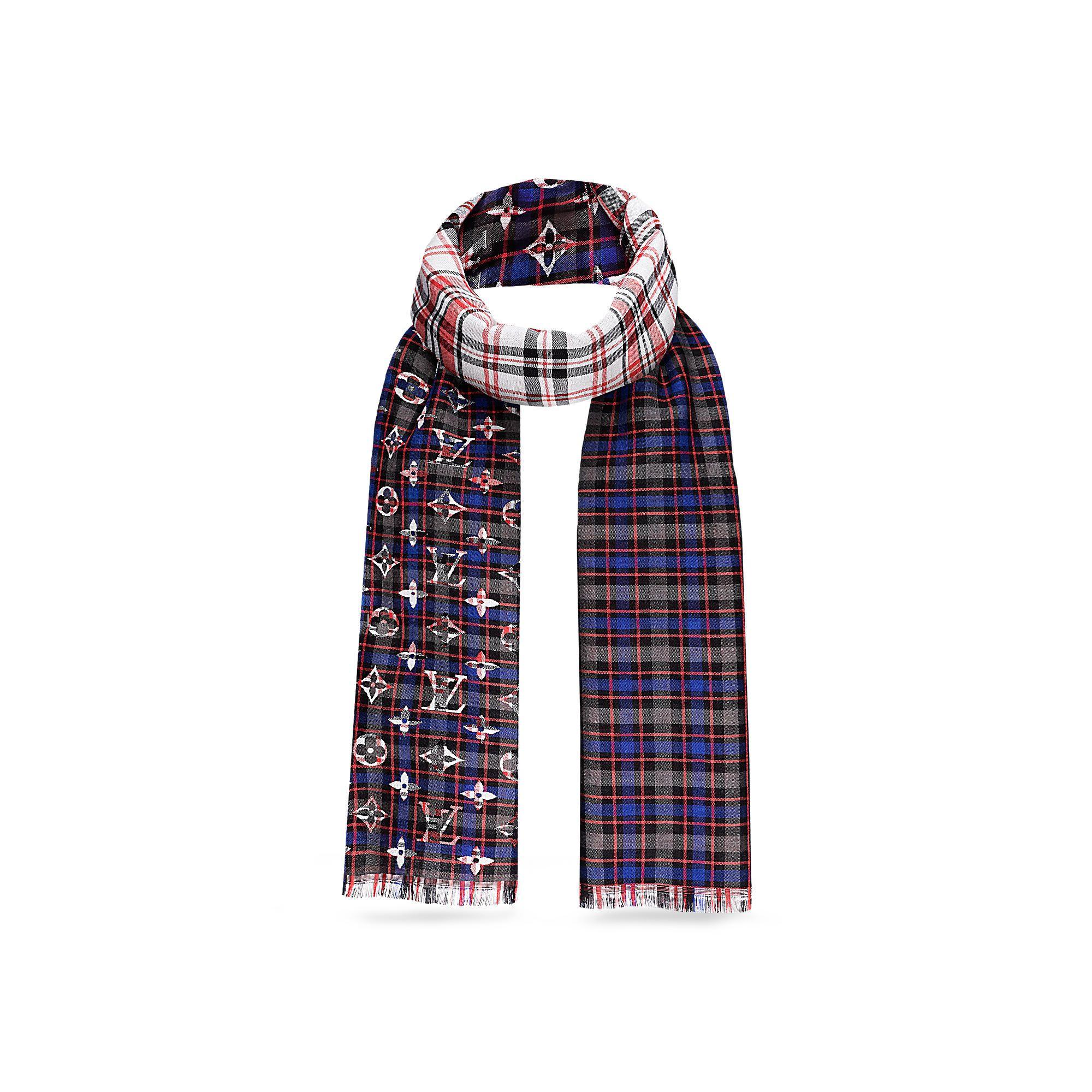 2c431470280c7 Discover Louis Vuitton Monogram Tartan Stole via Louis Vuitton