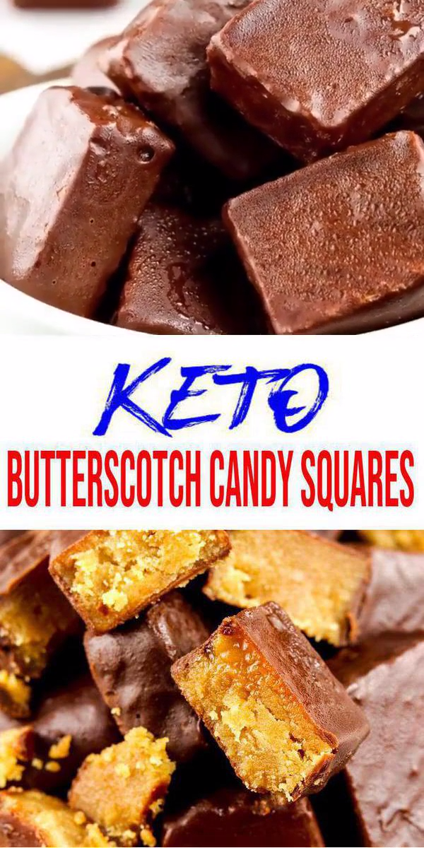 Keto Candy! BEST Low Carb Keto Chocolate Butterscotch Candy Squares Idea – Quick & Easy Ketogenic Diet Recipe – Completely Keto Friendly – Gluten Free – Sugar Free
