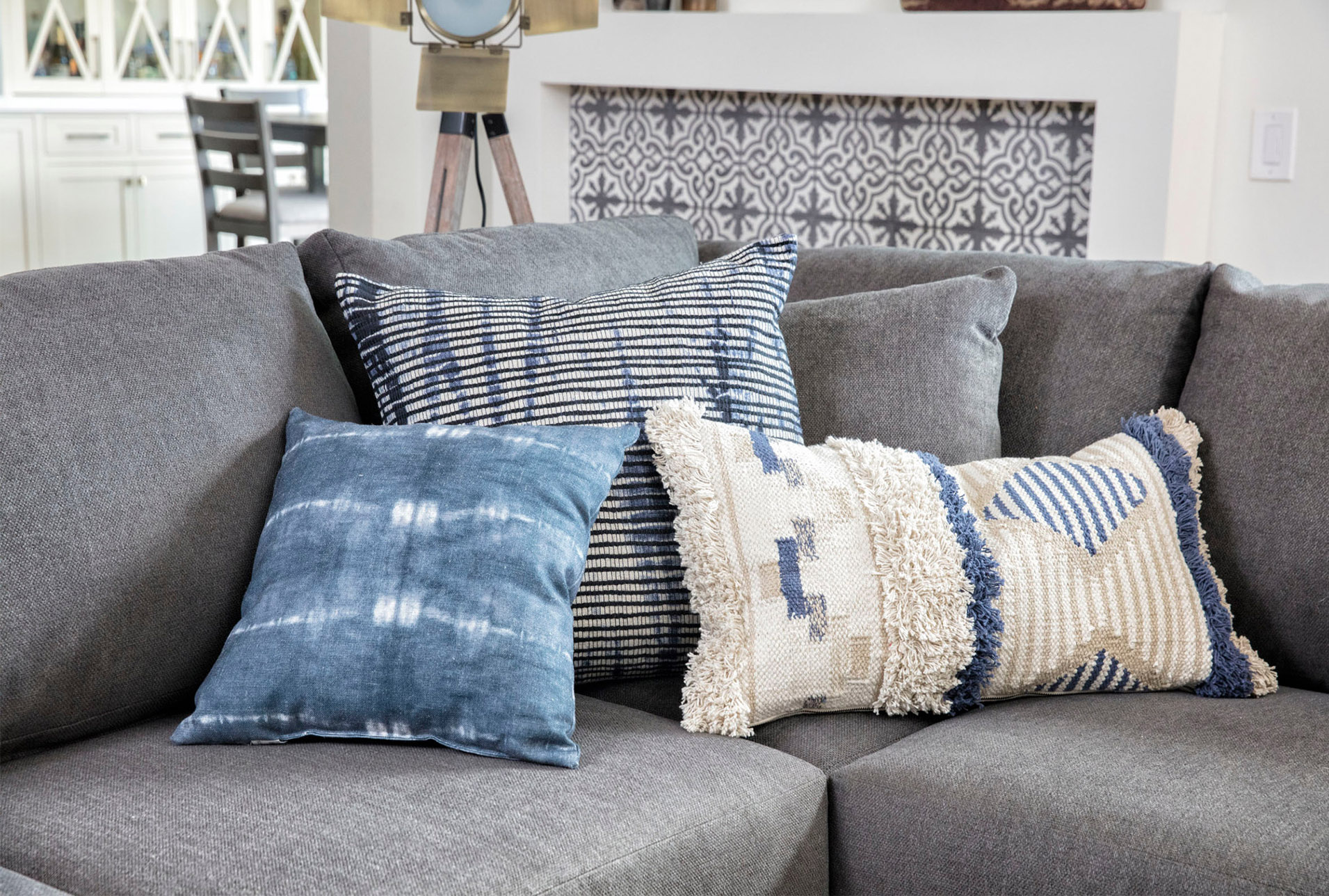 Accent Pillow Aged Denim 22x22 In 2020 Accent Pillows Living Room Modern Couch Pillows Decorative Sofa Pillows