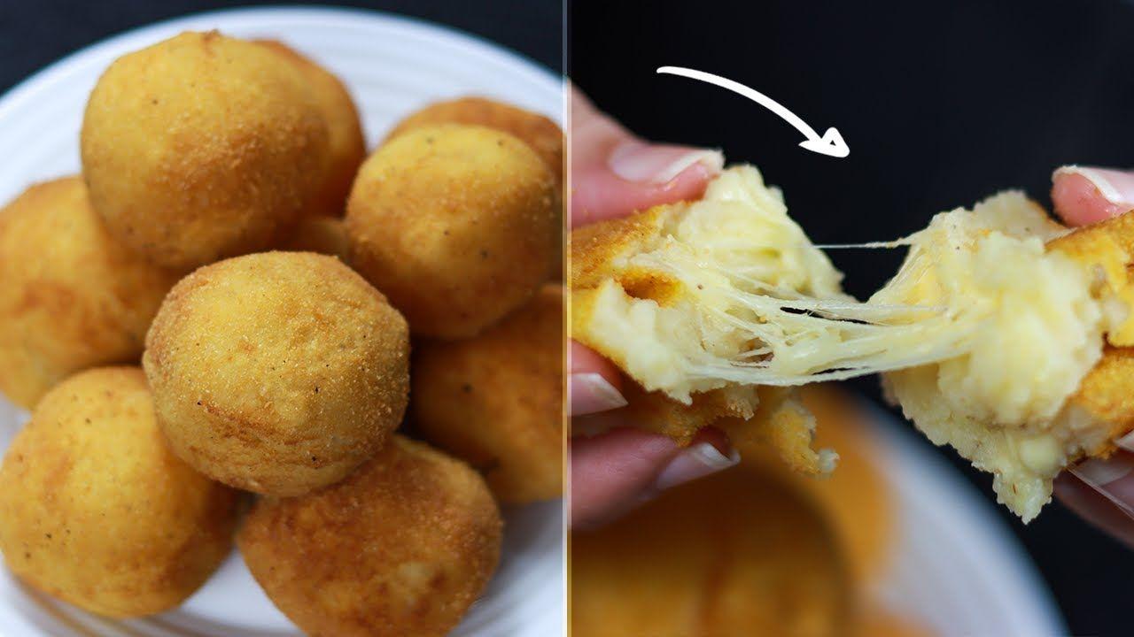 كرات البطاطس المقلية والمحشية جبنة سهلة وسريعة أحلى وصفة ممكن تجربيها Food Vegetables Potatoes