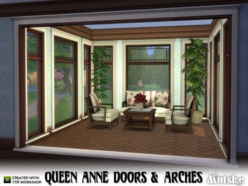 The Queen Anne Style Emerged Within The Victorian Period Between 1880 And 1910 The Doors And Arches Are Part Of The Queen Anne Building Sims 4 Sims Queen Anne