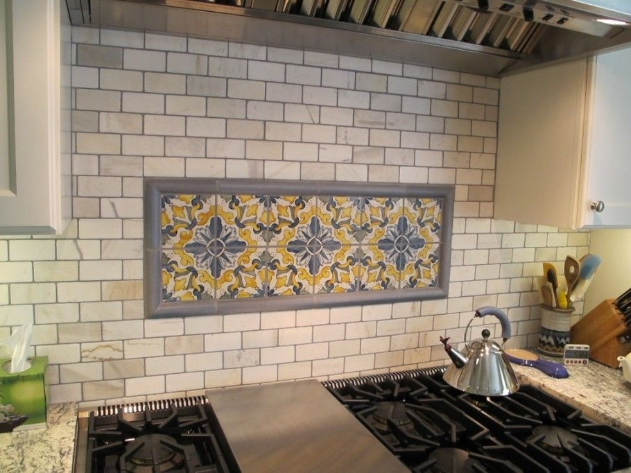 Decorative Tile Kitchen Backsplash Beautiful Floral And Tribal Motif Of Decorative Tiles For Kitchen