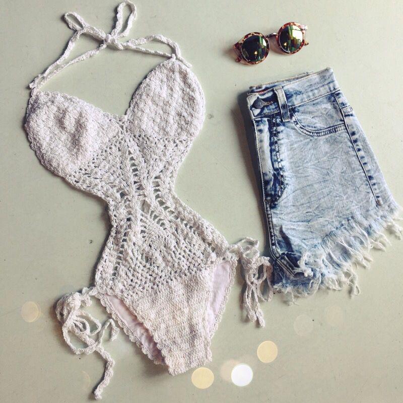 Crochet monokini #swoonboutique