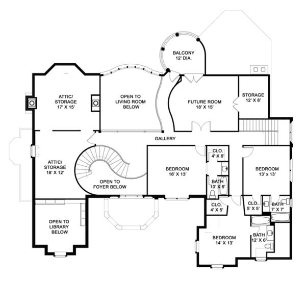 European Style House Plan  Ft Plan  119