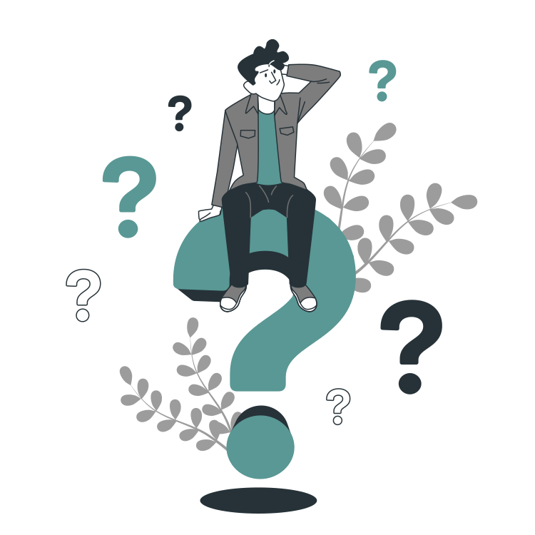 Questions By Freepik Storyset Svg Png Illustration People Doubt Question Mark Think This Or That Questions Cartoon Illustration Illustration
