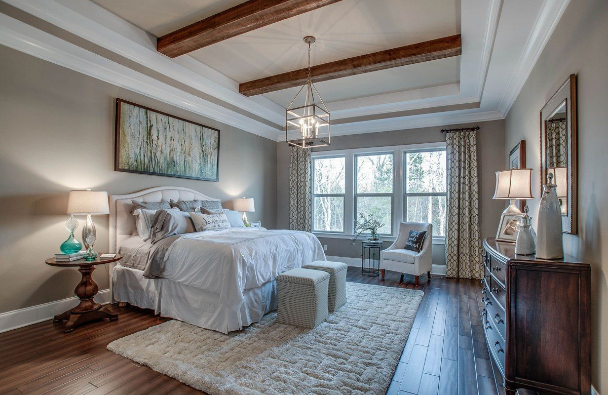 Tray Ceiling With Beams Like The Tray Ceiling With The Wood Beams Ceiling Beams Wood Beams Home Decor