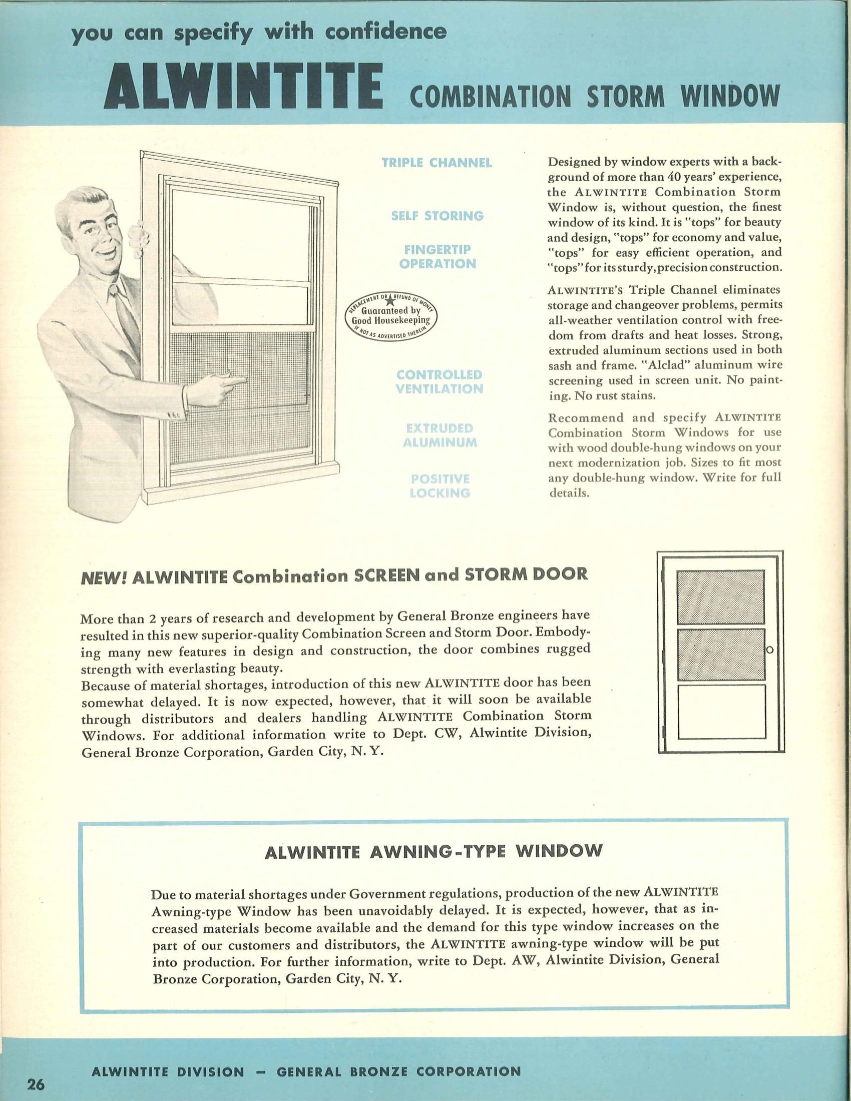 Alwintite Aluminum Windows | Old catalogues | Pinterest | Window