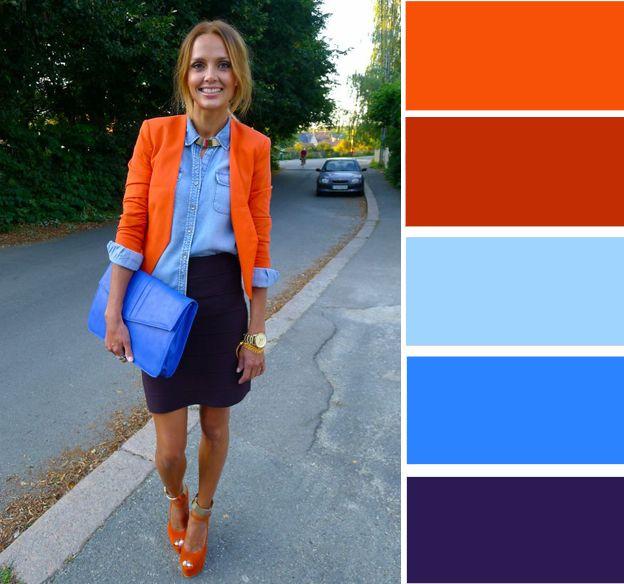 знакомство с оранжевым цветом