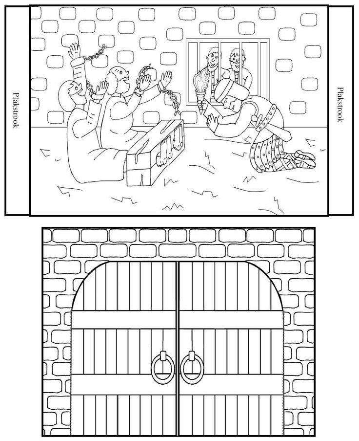 Paul And Silas In Jail Coloring Page Historias Biblicas Biblia