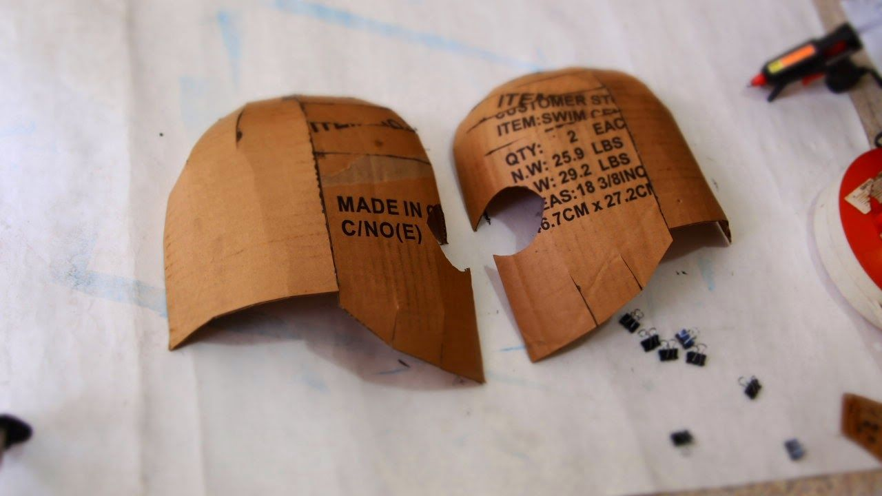 how to make a flash helmet out of cardboard