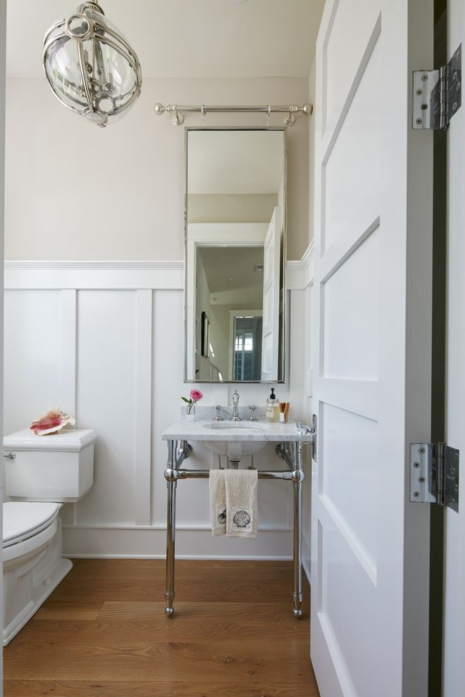 Best Bathroom Wainscotting Pro Tip To Make A Powder Room Look 400 x 300