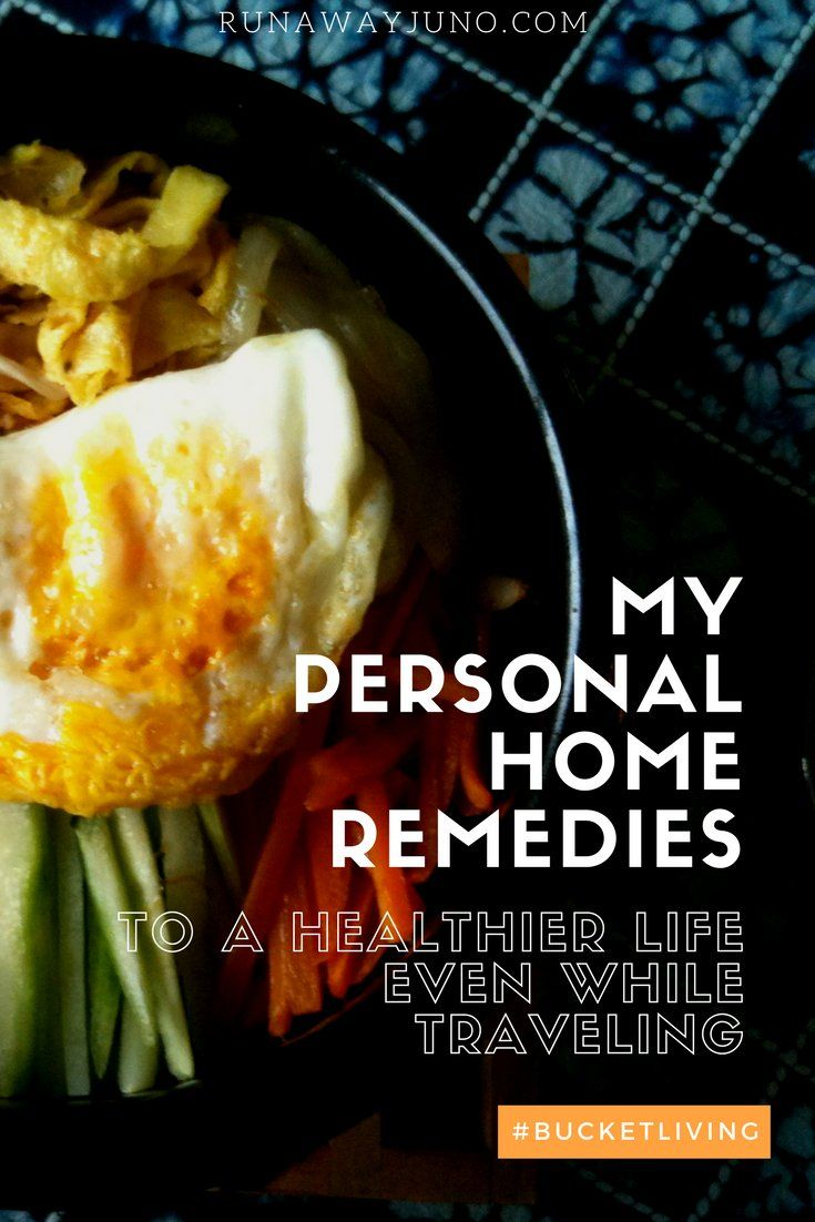 My Personal Home Remedies to a Healthier Life Even While Traveling via @runawayjuno