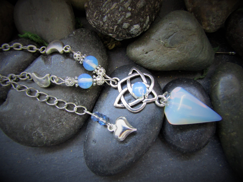 Celtic Mother Goddess triquetra earrings pagan handmade