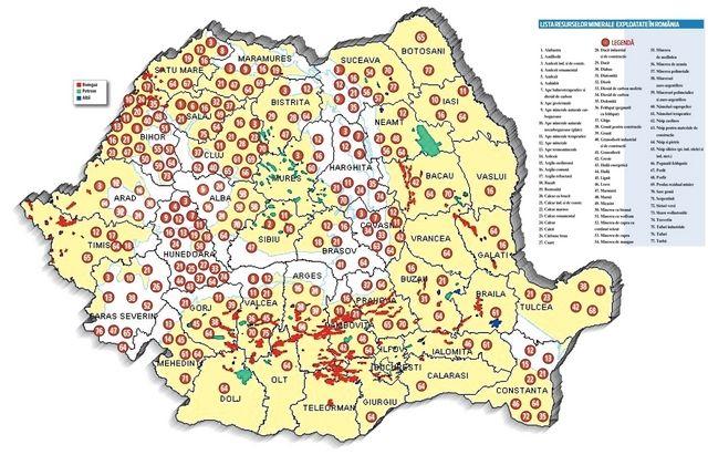 Harta Bogăţiilor Din Subsolul Romaniei Lista Celor 77 De Resurse