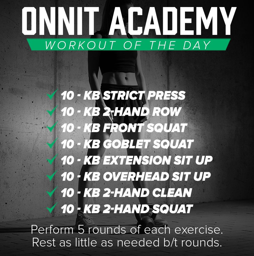 Workout Of The Day #43 - Kettlebell Workout