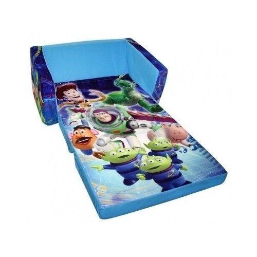 Flip Open Sofa Disney Toy Story Theme Kids Folding Fun Plush Bed Chair  Lounger