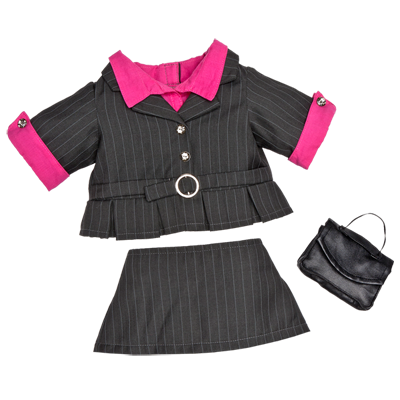 fc3063c4109 Black Pinstripe Suit 3 pc. - Build-A-Bear Workshop US