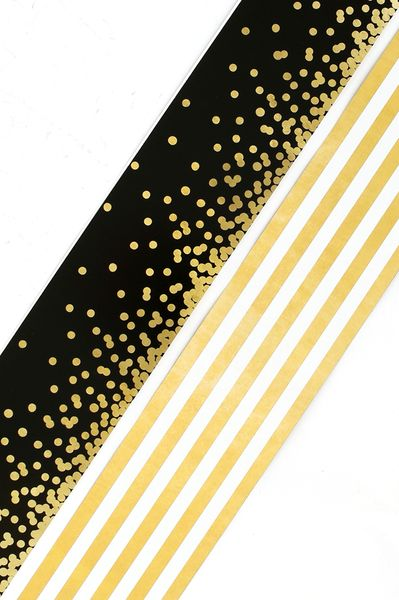 Glimmer Of Gold Collection Wide Double Sided Border Trim 38 Feet