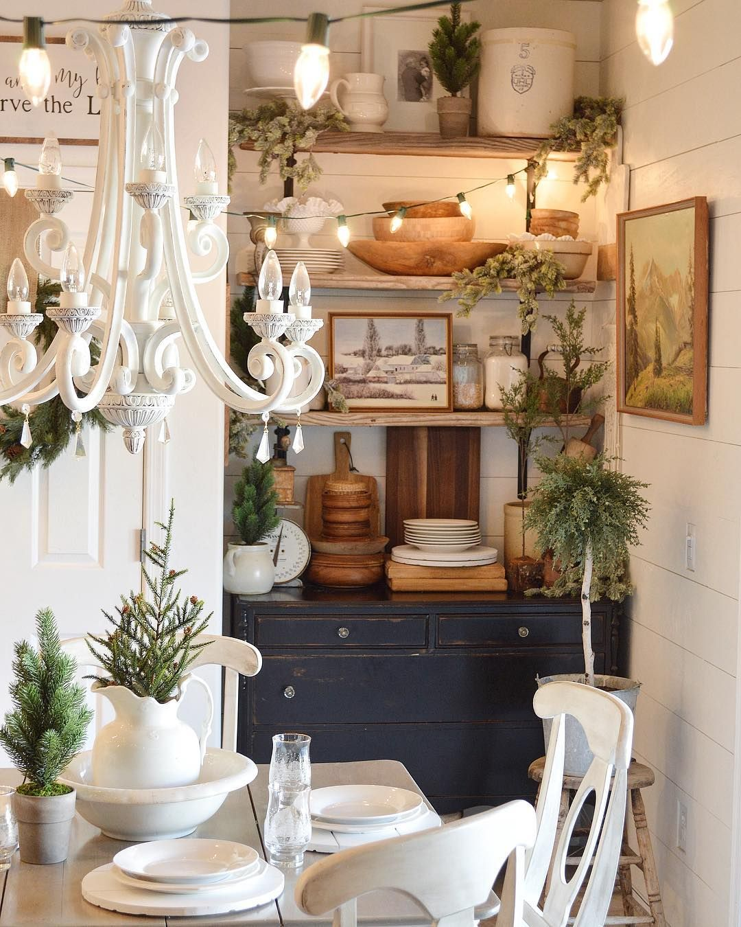 lovely nook in this country style #diningroom nicchia in una sala da ...