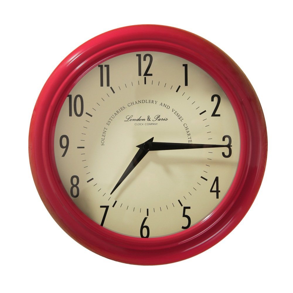 Furnistar Red Iron Vintage-Inspired Wall Clock. This simple ...