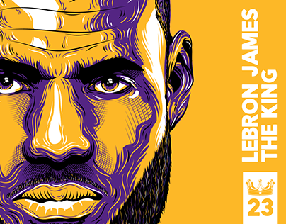 Check Out New Work On My Behance Portfolio Lebron James The King Vector Illustration Http Be Net Gallery Vector Illustration Illustration Lebron James