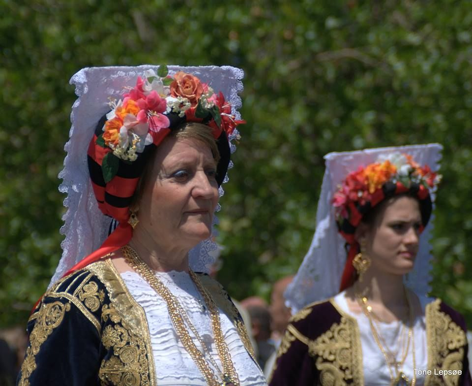 National suits.. Parade. Celebrating Corfu became part of Greece. Corfu Old town 21 may 2014. Greece. TONE LEPSOES PICTURES.