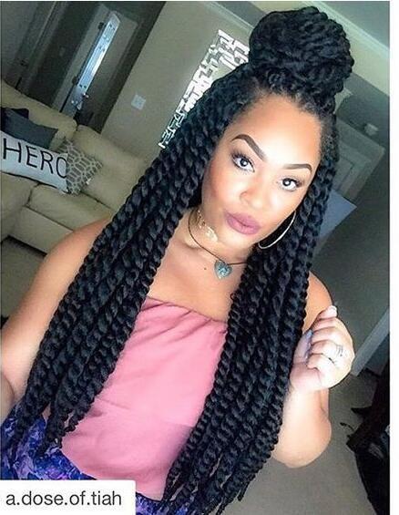 Synthetic Braiding Havana Mambo Senegalese Twist Curly Hair Style