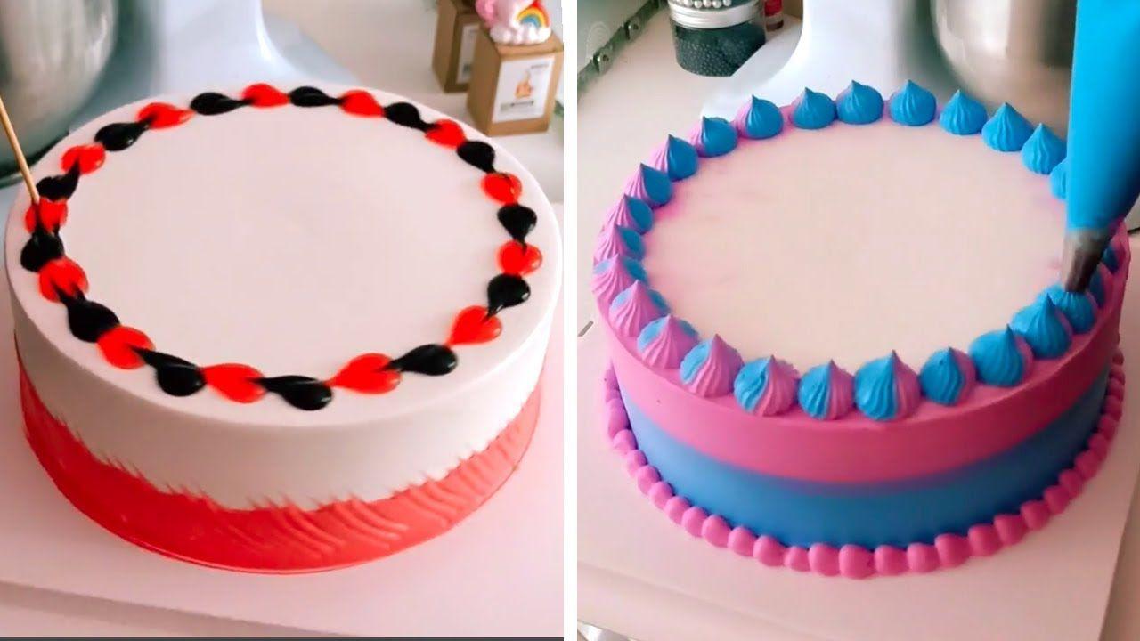 Simple Quick Cake Decorating Ideas Amazing Cake Decorating Tutorial Perfect Cake De Quick Cake Cake Perfect Cake