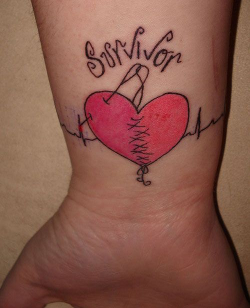 30ab456a4e58d heart+attack+tattoo+designs   25 Exciting Bracelet Tattoos   CreativeFan
