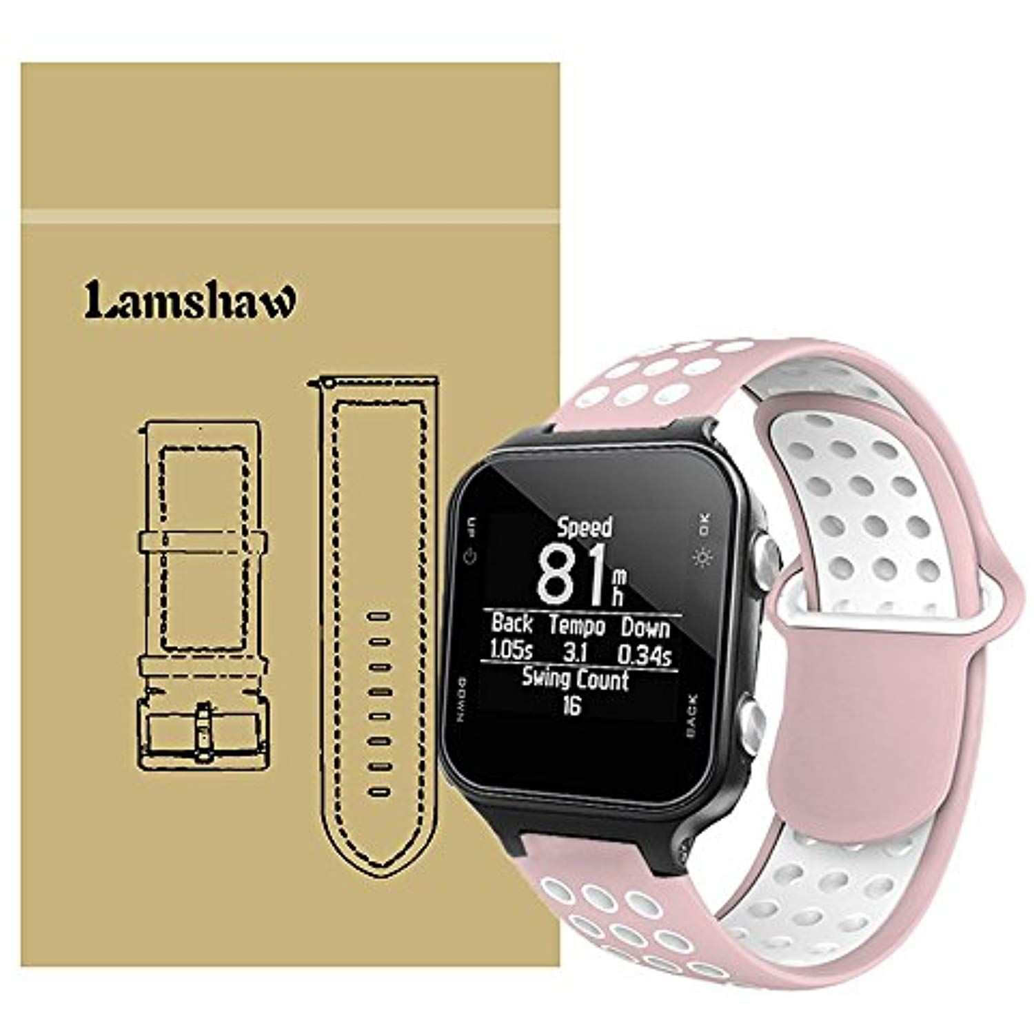 For Garmin approach S20 Bands, Lamshaw Silicone Sport Band
