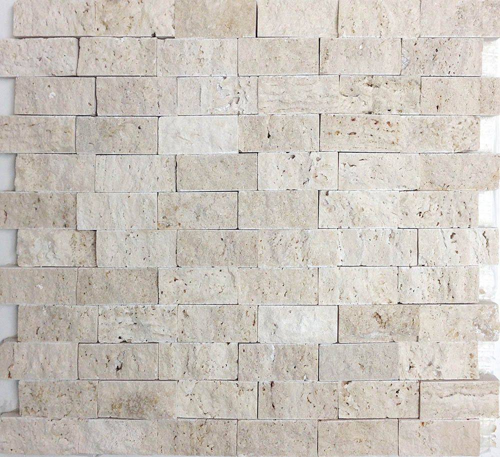 Mosaics mosaics travertine and pool bathroom ivory travertine split face mosaic from sefa stone perfect for walls backsplash dailygadgetfo Images