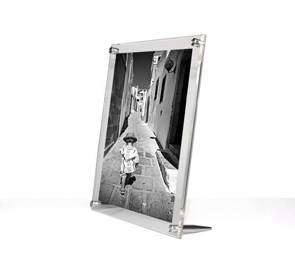 Acrylic Bevel Tabletop Float Frame For 8 X 10 Photos Tabletop Picture Frames Picture Frame Designs Picture Frames