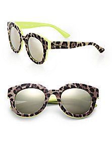 7fa19a4efad Dolce   Gabbana - Leopard-Print 49mm Round Sunglasses