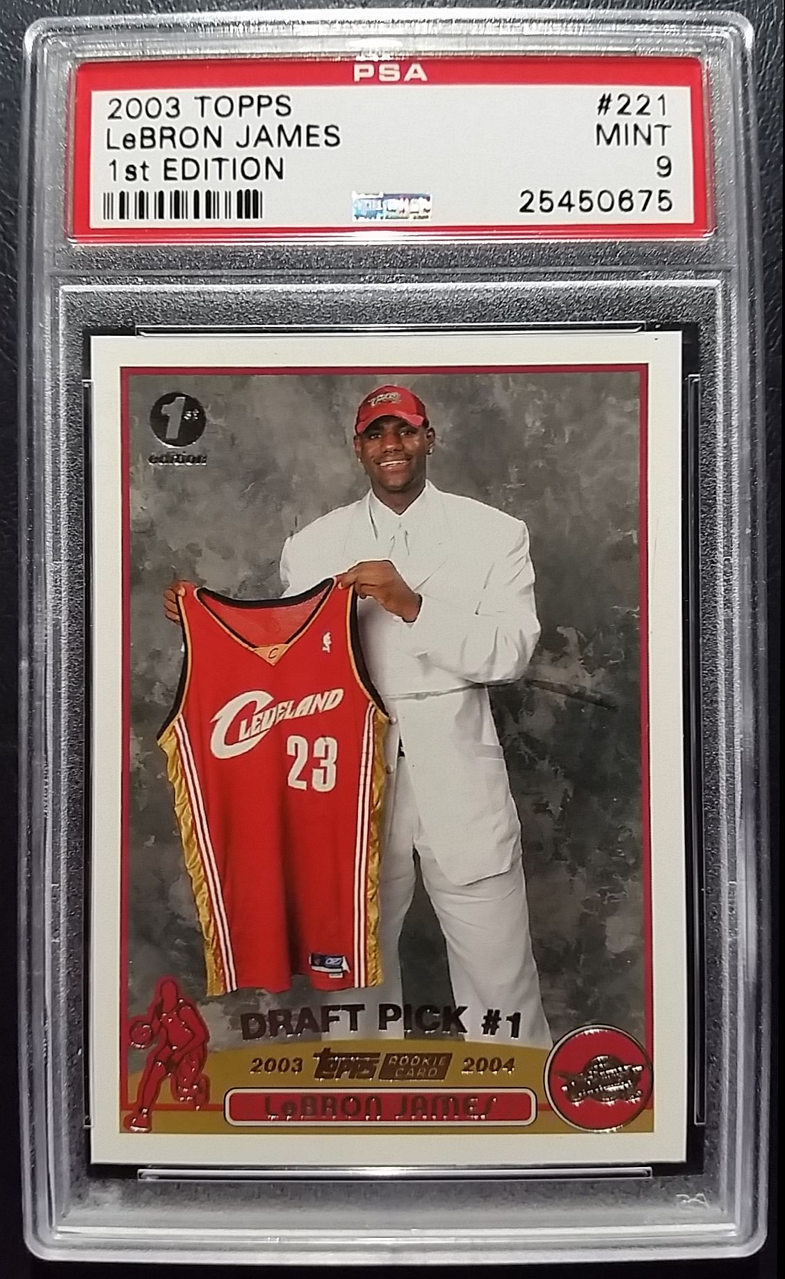2003 Lebron James Topps 1st Edition Rookie Card Graded Mint