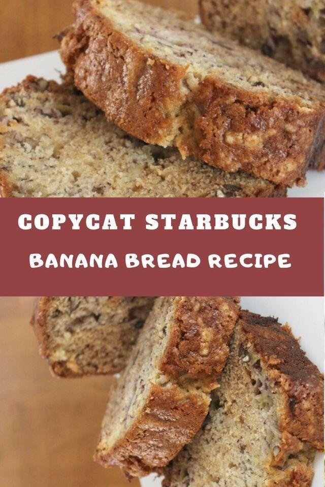 Copycat Starbucks Banana Bread #bananabreadrecipe
